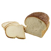 Ambachtelijke Bakker Wit Vloerbrood Sesam Half voorkant