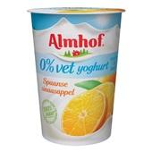 Almhof Yoghurt Sinaasappel 0% vet voorkant