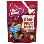 Red Band Snoep Drop fruit duo's voorkant