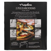 Napolina Pizzabodems achterkant