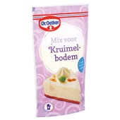 Dr. Oetker Bakmix Kruimelbodem achterkant