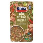 Unox erwtensoep     pittig soep in zak  voorkant