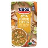 Unox siz heldere kippensoep soep in zak  voorkant