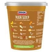 Unox puur soep pompoen achterkant