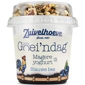 Zuivelhoeve yoghurt blauwe bes voorkant