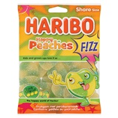 Haribo happy peaches  fizz voorkant