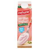 Melkunie Magere Yoghurt Aardbei zonder stukjes voorkant