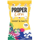 Propercorn popcorn sweet and salty voorkant