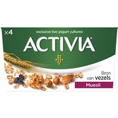 Activia Danone yoghurt muesli voorkant