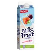 Melkunie Milk & Fruit Drinkyoghurt Aardbei Kers achterkant