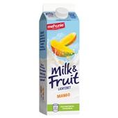 Melkunie Milk & Fruit Drinkyoghurt Mango achterkant