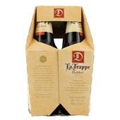 La Trappe trappist dubbel fles 6x30 cl achterkant