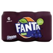 Fanta Frisdrank Cassis Blik 6X33 Cl voorkant
