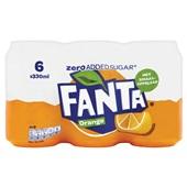 Fanta Zero Sinas Orange voorkant