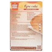 Koopmans Bakmix Fijne Cake achterkant