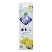 Melkan 0% Vet Drinkyoghurt Limoen voorkant