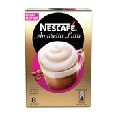 Nescafé Oploskoffie Latte Amaretto voorkant