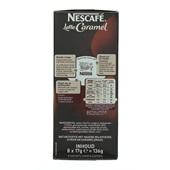 Nescafé Koffie Latte Caramel achterkant