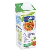 Alpro Soya Cuisine achterkant