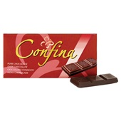 Confina Chocolade Tablet Puur achterkant