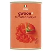 Gwoon tomatenblokjes  voorkant
