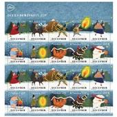 PostNL postzegel decemberzegels 2019 voorkant