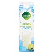 Melkan 0% drinkyoghurt limoen voorkant