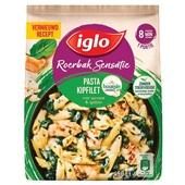Iglo Roerbaksensatie pasta met spinazie, kipfilet en Boursin voorkant