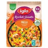 Iglo Roerbaksensatie paella met garnalen en kipfilet voorkant