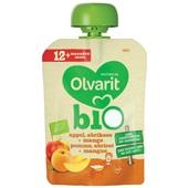 Olvarit bio fruithapje appel abrikoos mango voorkant