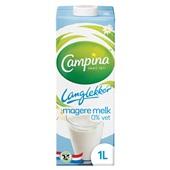 Campina 0% vet melk lang lekker voorkant