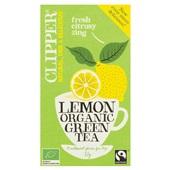 Clipper green lemon  tea voorkant