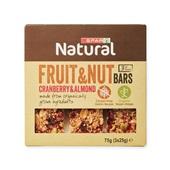 Spar fruit & noten bar cranberry amandel voorkant