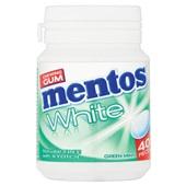 Mentos Kauwgom Gum White Green Mint, Pot 40 Gums voorkant