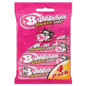 Bubblicious Kauwgom Strawberry Splash 4-Pack voorkant