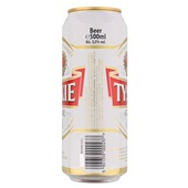 Tyskie Bier Grinie Blik 50 Cl achterkant