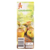 Appelsientje appelsap goudappeltje achterkant