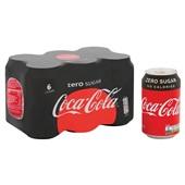 Coca Cola zero blik 6x33 cl achterkant