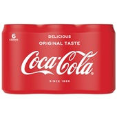Coca Cola regular blik 6x33cl voorkant
