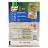 Knorr Vis Dille Saus achterkant