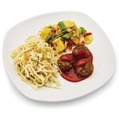 Culivers vegetarische balletjes in pangangsaus met pikante groenten, ananas en bami goreng  voorkant