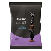 Gwoon zoute drop gemend voorkant