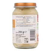 Bonbébé Baby/Peuter Fruithapje Peer Met Yoghurt achterkant