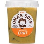 Oma's Soep Hollandse erwtensoep voorkant