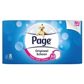 Page toiletpapier origineel schoon voorkant