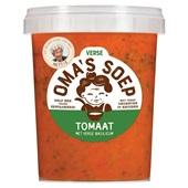 Oma's Soep tomaat en verse basilicumsoep voorkant
