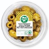 Spar olijven met pesto voorkant