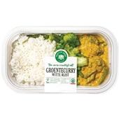 Spar groentecurry met witte rijst voorkant