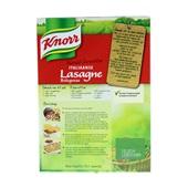 Knorr Wereldgerechten Lasagne Bolognese achterkant