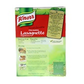 Knorr Wereldgerechten Lasagnette achterkant